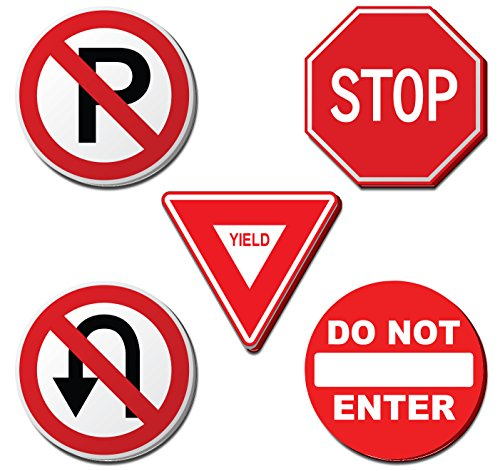 - Regulatory Sign Sticky Note Set, Traffic sign teaching tool, Playful notebook, Office supply, Kids play toy.