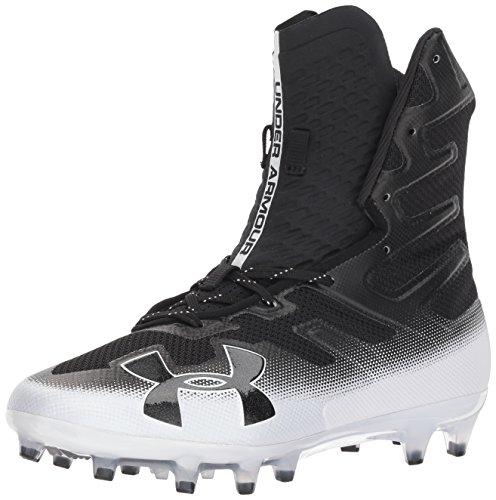 Under Armour Men's Highlight MC Football Shoe, Black (002)/White, 11
