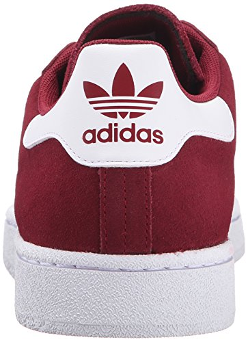 Adidas Originali Mens Campus Moda Sneaker College Bordeaux / Bianco / Bianco