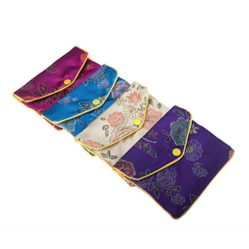 e Jewelry Pouches, Zipper Purse, Favor Bag, 4 x 4-3/4 Inch-Assorted (Brocade Pouch)