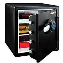 The SentrySafe SFW123FUL Fireproof Safe and Waterproof Safe offers ETL Verified water protection and UL Classified fire protection for your important documents, digital media, and other valuables. This safe is also equipped to protect from un...