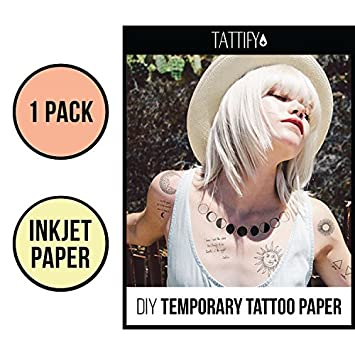 picture about Printable Tattoos named Tattify Do-it-yourself Non permanent Tattoo Paper 1 Pack For Inkjet Printers, Printable Lengthy Long lasting Custom made Tattoos At House, Sticker Move Sheets With Obvious