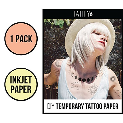 Amazoncom Tattify Diy Temporary Tattoo Paper 2 Sheet Pack For