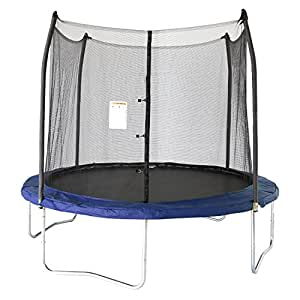 Skywalker Trampolines 10 Ft. Round Trampoline and Enclosoure with Blue Spring Pad