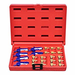 vidaXL Kit de adaptador para probador de carril común set de herramientas