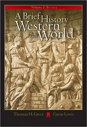 Amazon a brief history of the western world volume i to 1715 amazon a brief history of the western world volume i to 1715 with cd rom and infotrac 9780534642372 thomas h greer gavin lewis books fandeluxe Choice Image