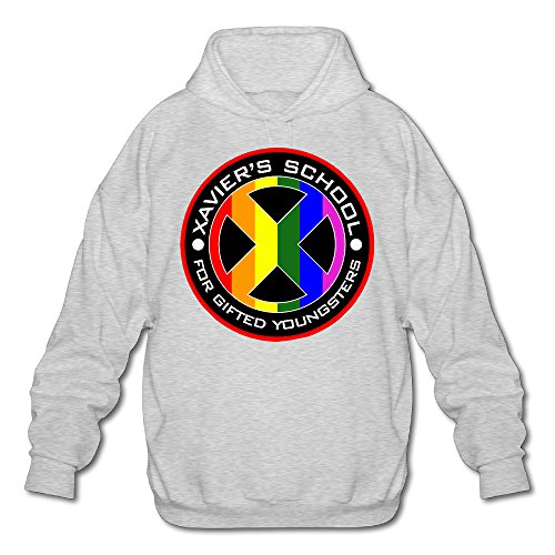 PHOEB Mens Sportswear Drawstring Hoodies Outwear Jacket,X-Men Logo Ash Medium (X Men Rogue Jacket)