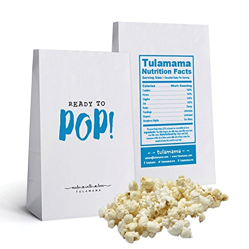 Ready to Pop - Popcorn bags - Perfect for Baby Shower Favors. Super Cute and Practical. 25 Party Favor Bags Per Set - Ready to Use. Blue ()