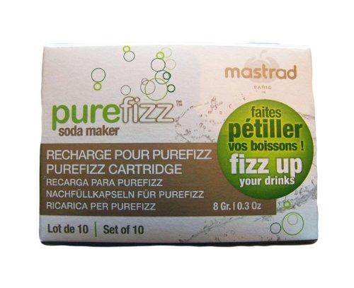 Mastrad A02160 Food Grade CO2 Cartridge for Pure Fizz, 8g...
