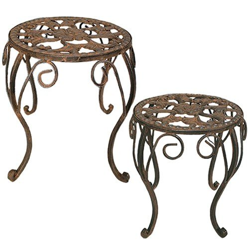 TIC Collection 39-049 Martha Plant Stands, Set of 2 (Patio Living Sets Martha)