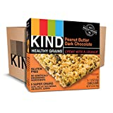 KIND Healthy Grains Bars, Peanut Butter Dark Chocolate, Non GMO, Gluten Free, 1.2 oz, 5 Count (24 Boxes)