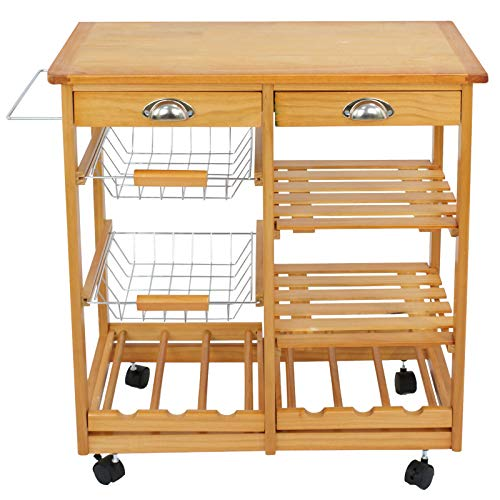 Lek Store Home & Garden Kitchen Dining Room & Bar Islands Carts Stands Serving Cart Service 3 Tier Rolling Glass Furniture Trolley Storage Utility Gold from Lek Store