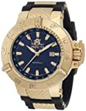 Invicta Men's 1150 Subaqua Noma III GMT Blue Dial Black Polyurethane Watch from Invicta