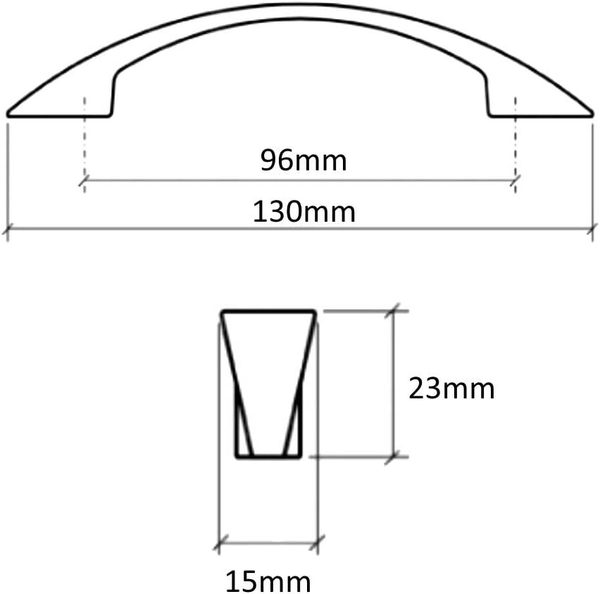 AERZETIX 6x Tirador para caj/ón alacena puerta mueble armario Alazeia plata sat/én 96mm C41425