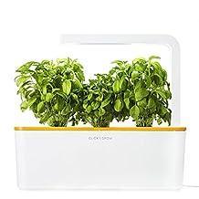 Click & Grow Indoor Smart Herb Garden with 3 Basil Cartridges and Orange lid