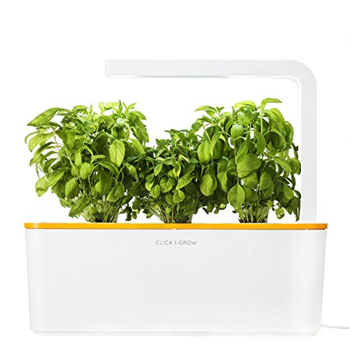 click-grow-indoor-smart-herb-garden-with-3-basil-cartridges-and-orange-lid