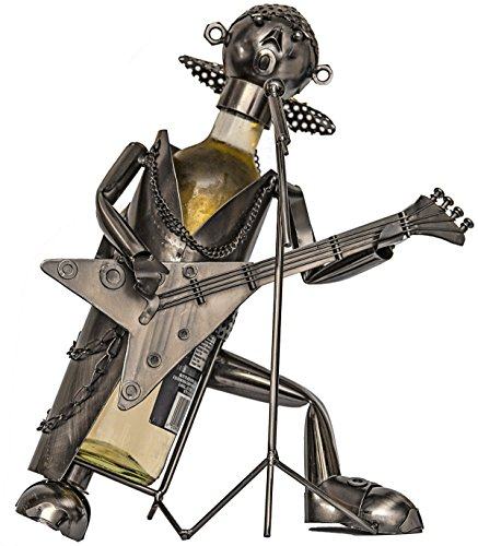 Fabulous electric Guitar (Singing on a Mic and Holding a Guitar) Wine Bottle Holder ,Plus a Wine Foil Cutter and a Wine Stopper