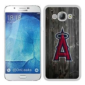 Abstract Custom Samsung A8 Case,Anaheim Angels Wood White Cool Design Samsung Galaxy A8 Phone Case