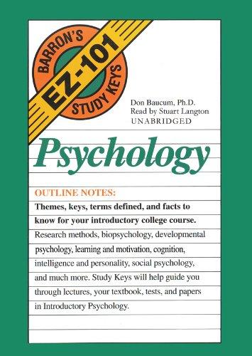 Barron's Ez 101 Study Keys: Psychology (Barron's EZ-101 Study Keys (Audio)) [UNABRIDGED]
