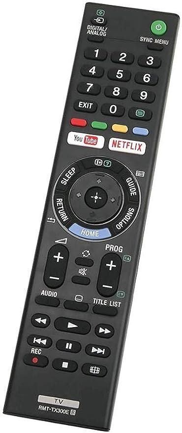 Earthma RMT-TX300E - Mando a distancia para Sony 3D Smart LED LCD TV, mando a distancia universal de repuesto para Sony TV RMT-TX300E con botones Netflix/YouTube: Amazon.es: Electrónica