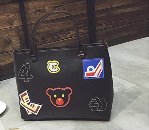Bag Niñas De Retro Compras Solo Bolso Manera Cuatro Cuero Messenger Dama Turismo La Hombro Trabajo Bao Black Colores Pu Escuela 8xnqgIX1