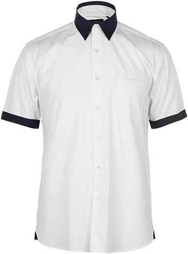 Pierre Cardin Hombre Fashion Camisa De Manga Corta Blanco ...