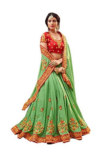 Da Facioun Indian Women Designer Partywear Ethnic Traditional Light Green Saree. by Da Facioun