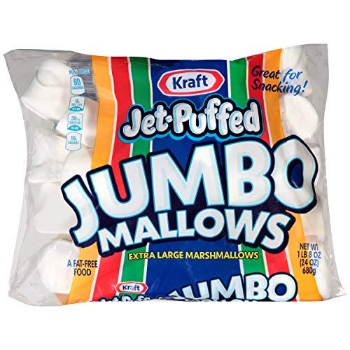 Jet-Puffed Jumbo Mallows Marshmallows, 24 Oz Bag,Pack of 1 -
