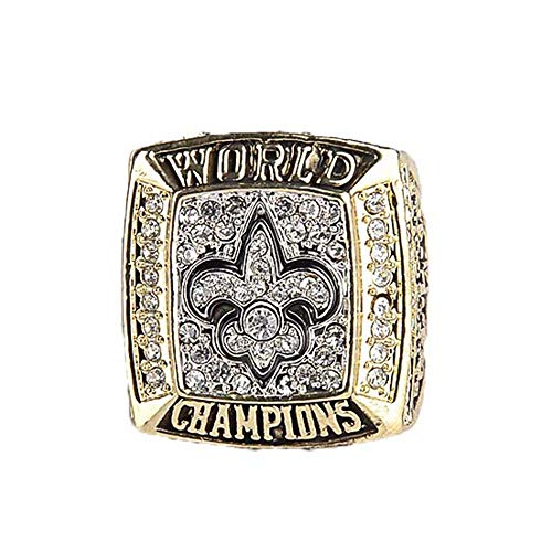 - Gloral HIF New Orleans Saints Ring Football 2009 Championship Ring Size 11,Without Box
