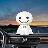 DeemoShop Car Ornament Cute Shaking Head Baymax Robot Doll Automotive Decoration Auto Interior Dashboard Bobble Head Toys Accessories Gift