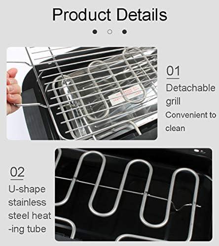 LXVY Portable intérieur Barbecue électrique Grill Smokeless Barbecue Griller Table température réglable 2000W Haute Puissance, Ajustement 3-5 Personnes Utilisation
