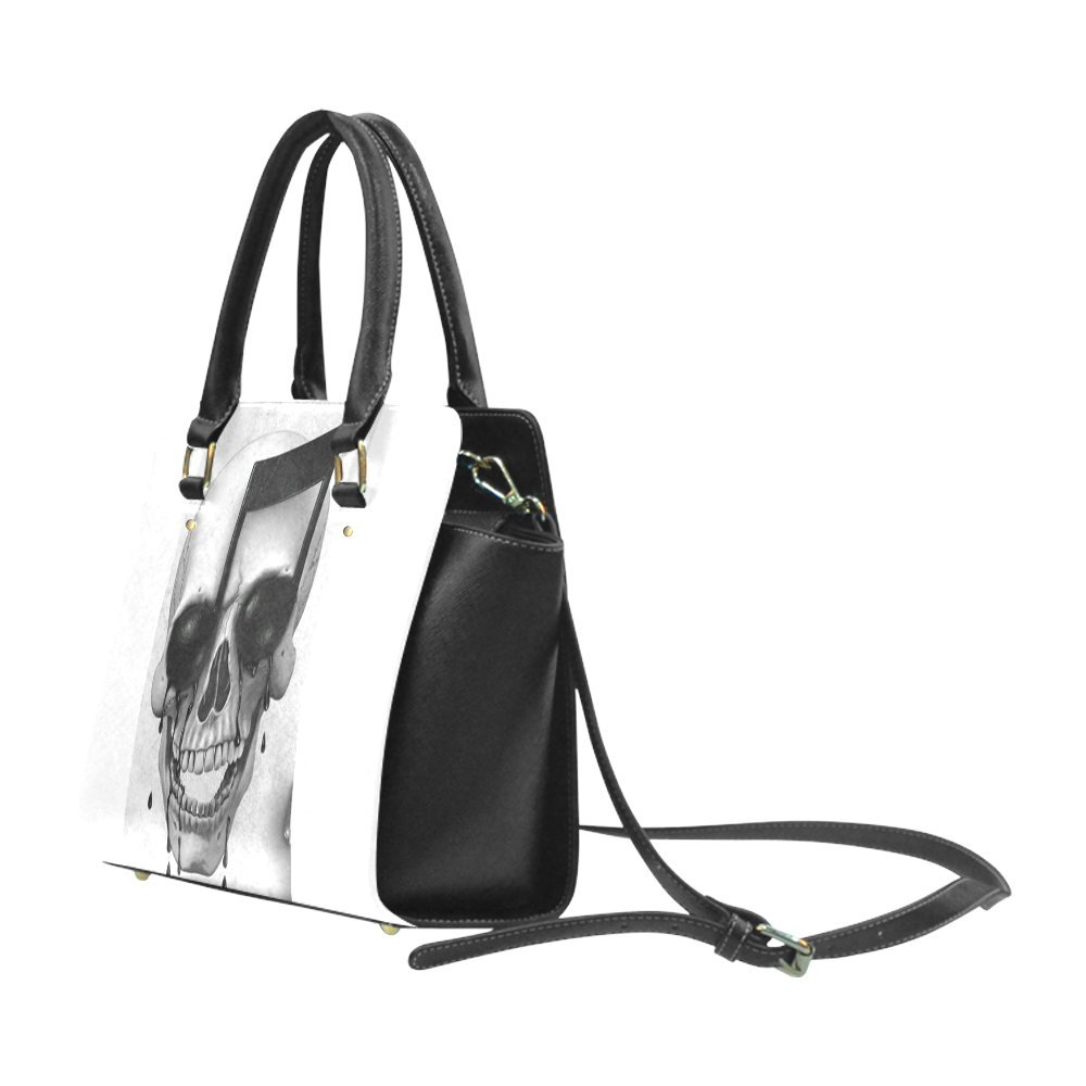 b6c5711bafe5 Custom Music Skull Illusion Fashion Shoulder Bag PU leather Women's ...