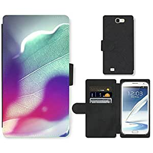 Hot Style Cell Phone Card Slot PU Leather Wallet Case // M99999427 Rainbow Colours Of Sunshine // Samsung Galaxy Note 2 II N7100