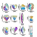 Outuxed 3196pcs AB Crystal Flatback Rhinestones