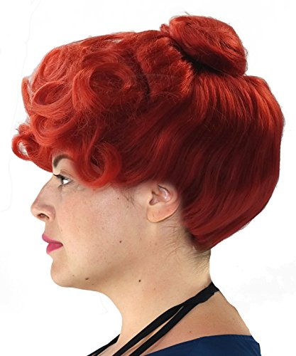 City Costume Wigs Mrs Stones Cave Halloween Costume Wig with an up Do Bun Auburn
