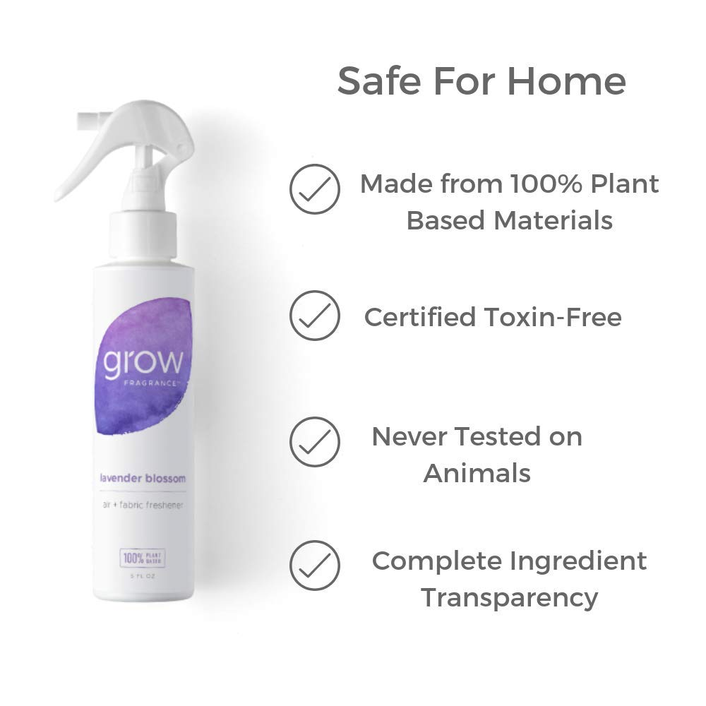 Grow Fragrance - Certified 100% Plant Based Air Freshener + Fabric Freshener Spray, Made With All Natural Essential Oils, Lavender Scent, 5 oz. (Pack of 2) by Grow Fragrance (Image #2)