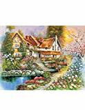 Country Cottages 4 x 500 Piece Jigsaws Multi SET