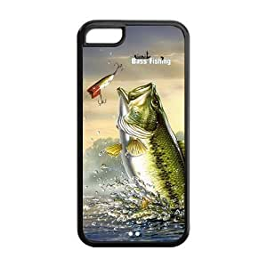 UCMDA High Quality Fishing Bass Hard Back Case Cover for Apple iPhone 4 4S by icecream design