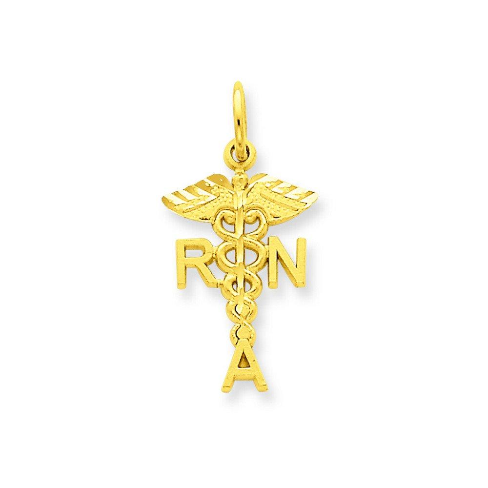 14k R.N Association Charm