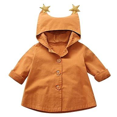 672c477d1 Amazon.com: Kasien Baby Outerwear Coat, Toddler Baby Girls Outerwear Jacket  Cartoon Windbreaker Hooeded Coat Clothes: Clothing