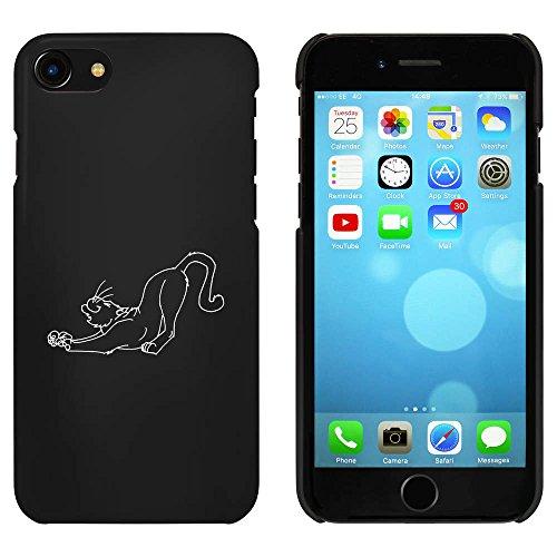 Noir 'Étirage Chat' étui / housse pour iPhone 7 (MC00058669)