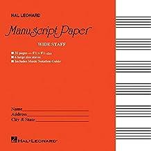 Wide Staff Manuscript Paper (Red Cover)