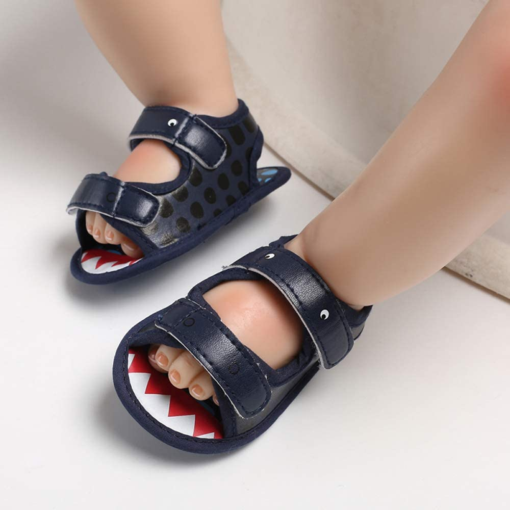 SOFMUO Baby Boys Girls Summer Athletic Sandals Soft Sole Anti-Slip Toddler First Walker Shoes