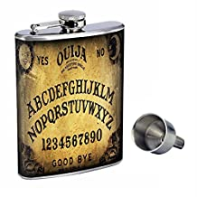 Ouija Board Perfection In Style 8oz Stainless Steel Whiskey Flask with Free Funnel D-005