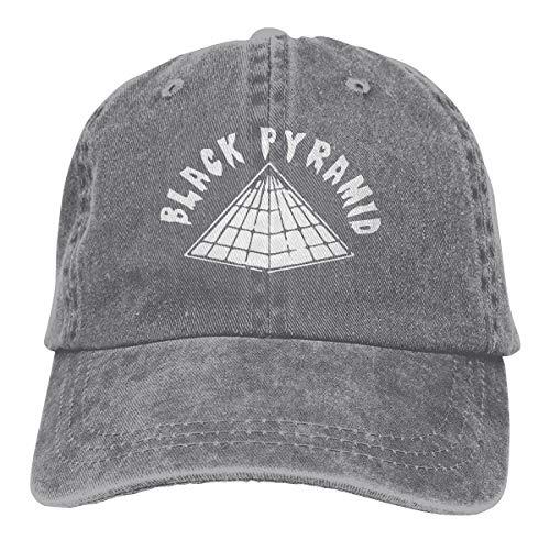 - Adult Fashion Denim Baseball Cap Black Pyramid Classic Dad Hat Adjustable Cowboy Hat