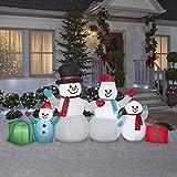 Gemmy Winter Snowman Collection Scene 4.5 FT TAL x