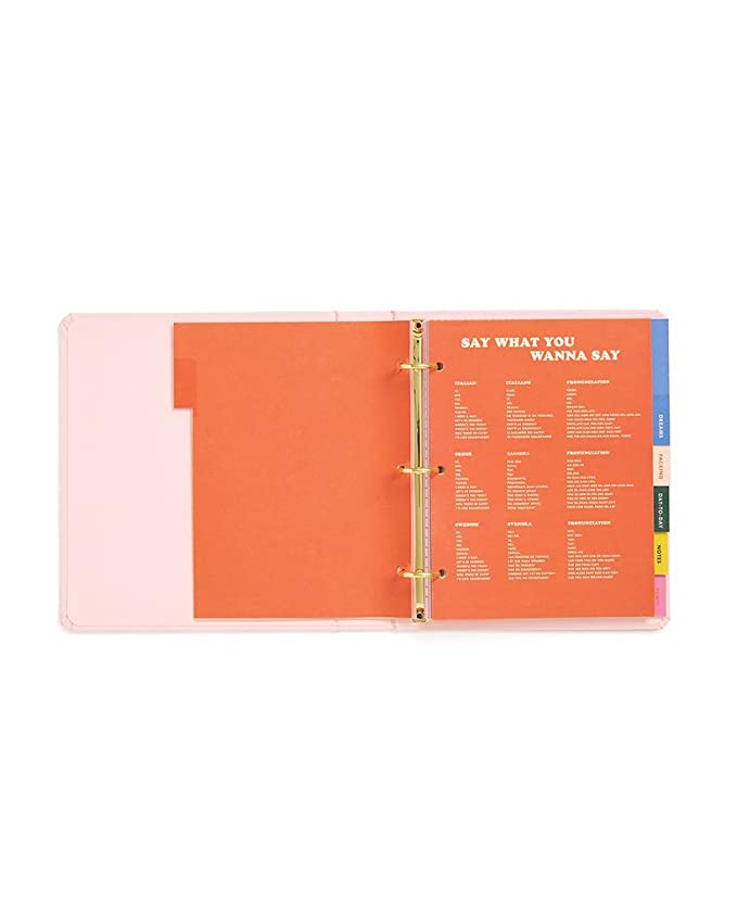 ban.do Womens Undated Hardcover Travel Daily Planner (Paradiso)
