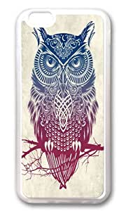 Apple Iphone 6 Case,WENJORS Cool Evening Warrior Owl Soft Case Protective Shell Cell Phone Cover For Apple Iphone 6 (4.7 Inch) - TPU Transparent