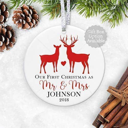 Amazon.com: Personalized Our First Christmas Ornament ...