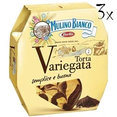 3 x Mulino Bianco torta pie variegata con gota de chocolate chocolate Pastel 400 g: Amazon.es: Alimentación y bebidas